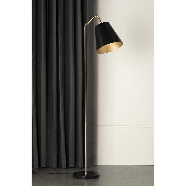 Mayfield 1208 Soma Dark Gold Amp Black Floor Lamp Davoluce