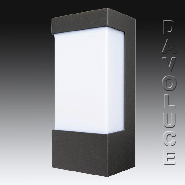 Brilliant Lighting 18049/06 EAVE Rectangular Exterior Wall Light Davoluce Lighting