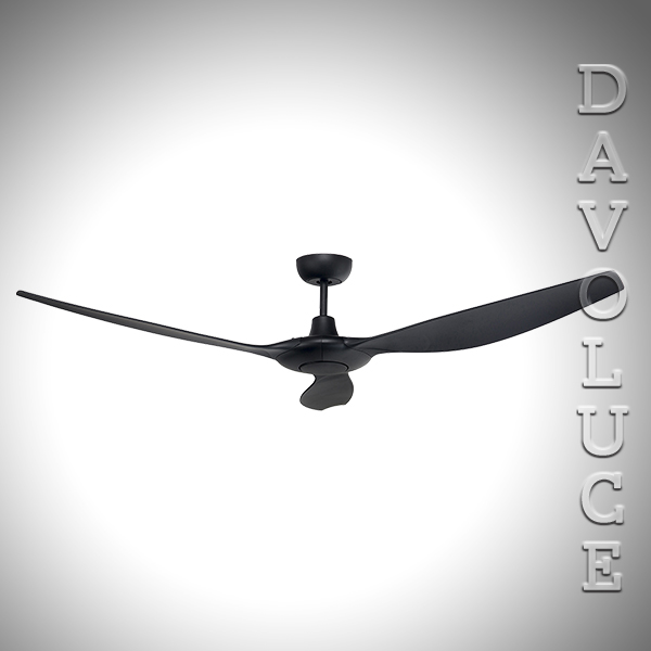 Timbre Luces Low Bay Lighting: 18936/06 Black CONCORDE 60″ DC Ceiling Fan