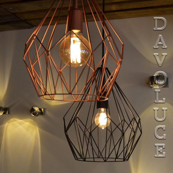 49257 49258 Carlton Black Or Copper Single Pendant Eglo Lighting Davolucelighting Com Au