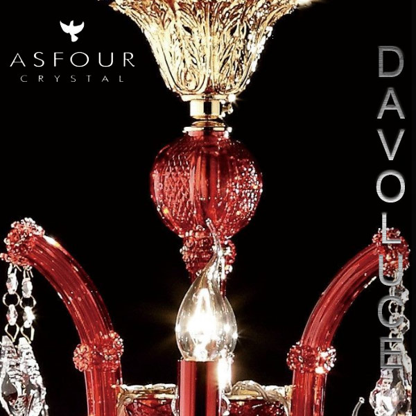 "Murano Chandelier Australia: Buy 6636(4624)-39""-12+6L-911(RED) Asfour Crystal 18 Light"