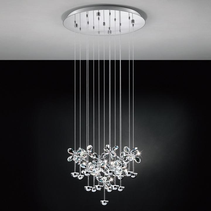 93662 Pianopoli Led 15 Light Crystal Pendant From Eglo