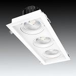 Lightel A21-513/84W 3 Gang Rectangular 3 x 28W LED Adjustable Commercial DL