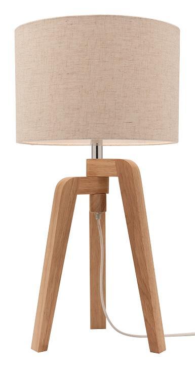 A34911 TARIFA Natural Timber Table Lamp From Mercator