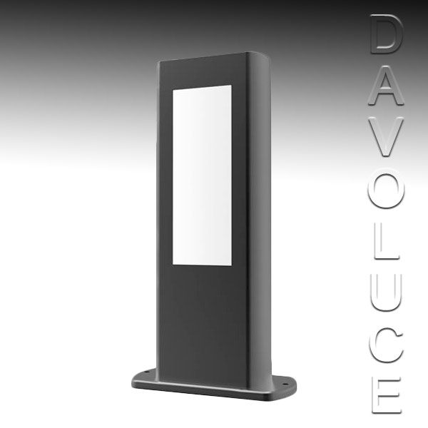 Cla Alum2 Led Exterior 300mm Bollard Light From Davoluce