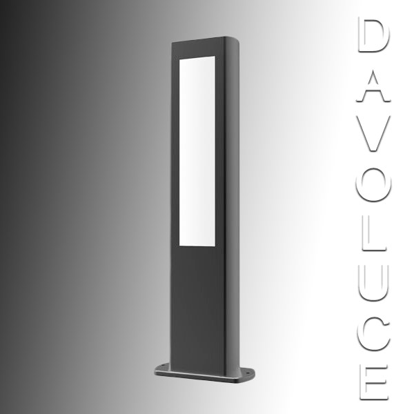 Cla Alum3 Led Exterior 500mm Bollard Light From Davoluce