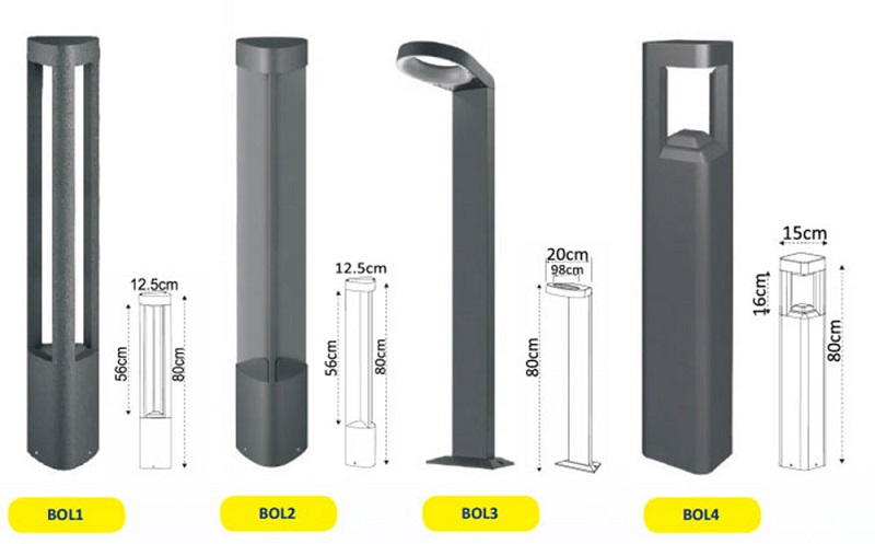 garden lighting bollards. exterior led garden bollard bol3 from cla lighting davoluce bollards d