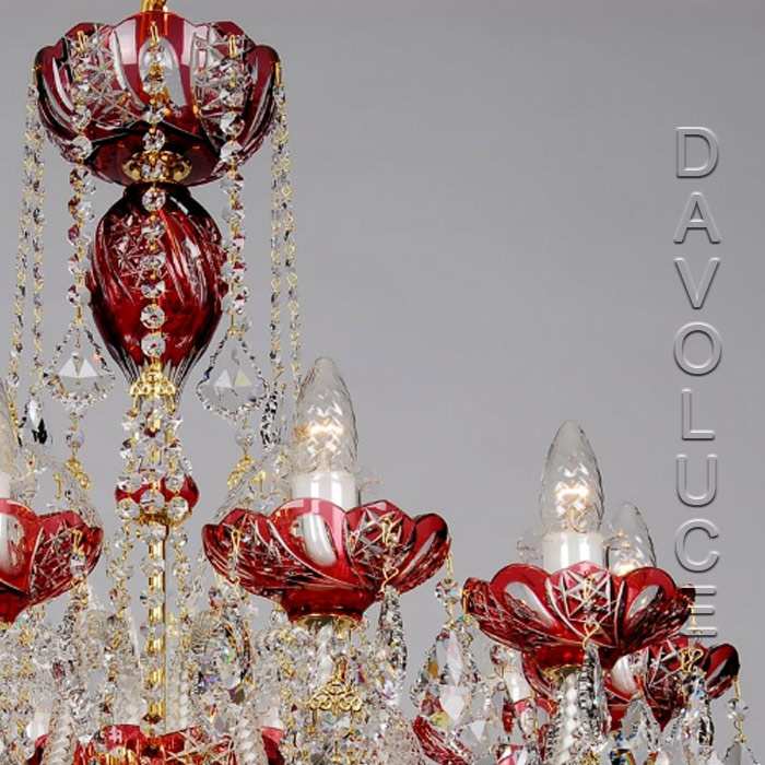 Swarovski red crystal chandeliers in melbourne australia wide delivery red galaxy swarovski crystal chandelier from davoluce lighting view detailed images 3 aloadofball Images