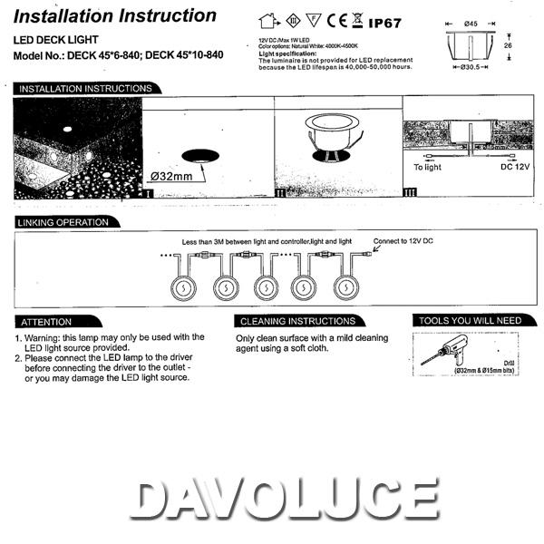 telbix led deck light set of six from davoluce lighting