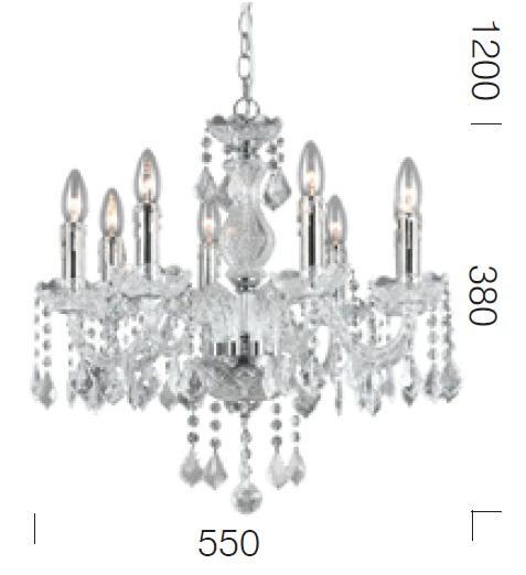 dijon 8 light pendant  dijon 8 light chandelier  cristal