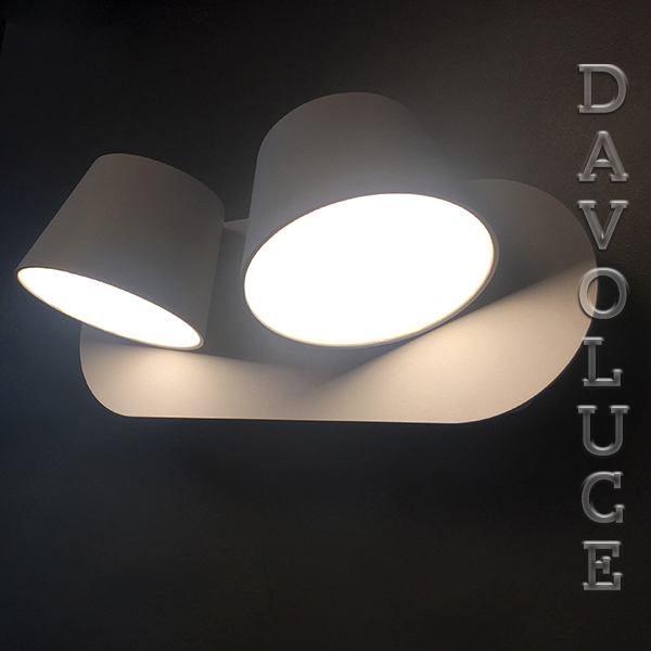 Yarra Led Interior Duo Matt Wall Light With Switch Uge