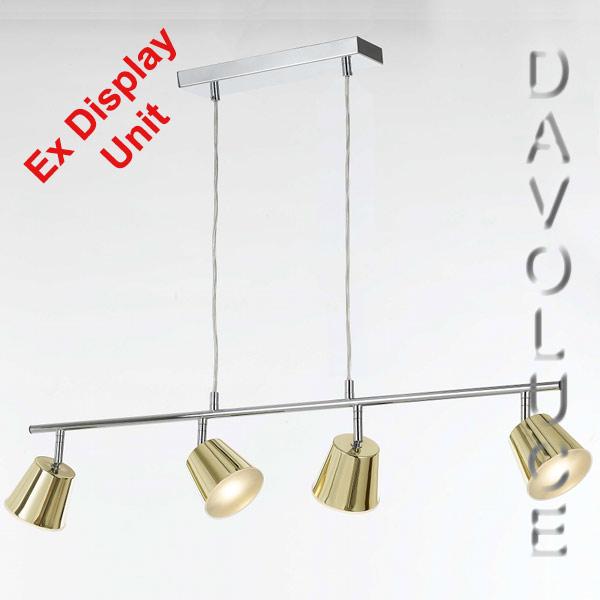 Telbix Edrik 4 Light LED Brass Pendant