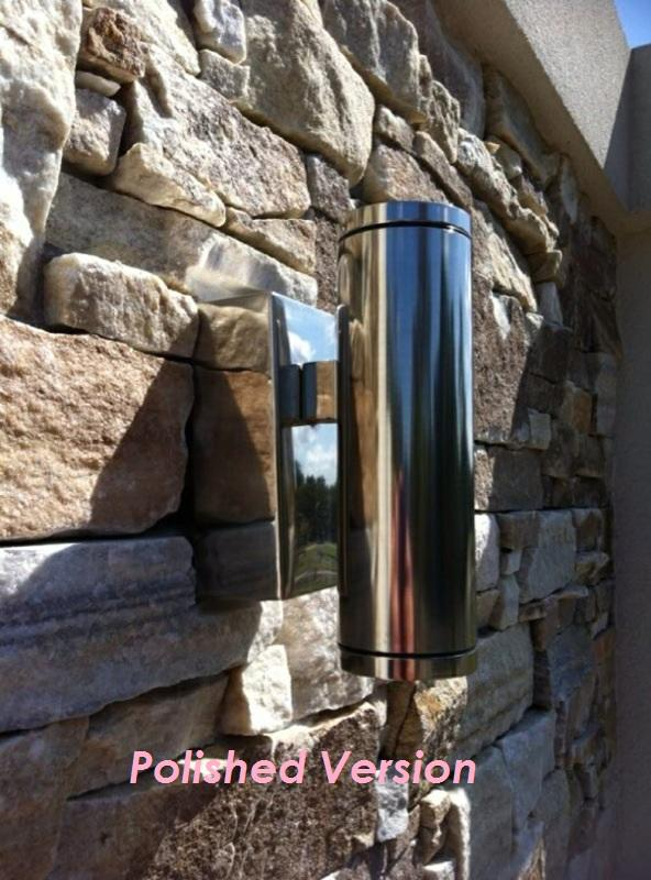 F202n 316 Stainless Steel Cylinder Wall Light Up And Down