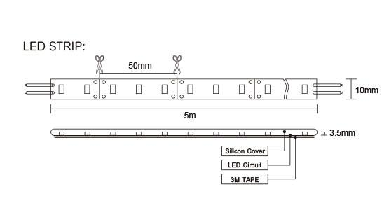 Led strip light kit 2 or 5 meter lengths davoluce lighting studio flp12v5ms 5 meter led strip kit sal sunny australia lighting mozeypictures Choice Image