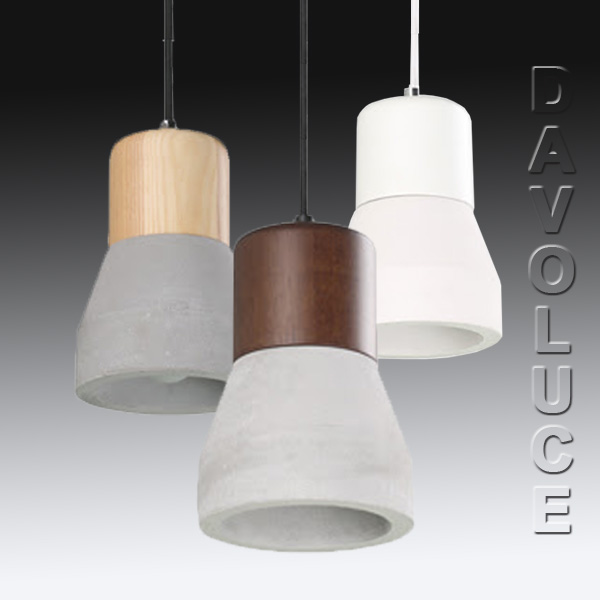 cla henge concrete wood pendant lights davoluce lighting