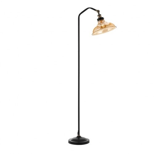 Hertel amber glass floor lamp from telbix australia for Floor lamp with shelves australia