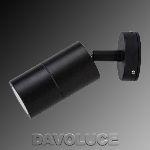 HV1225 Matt Black Single Adjustable LED Dimmable Wall Light from DaVoluceLighting.com.au ...