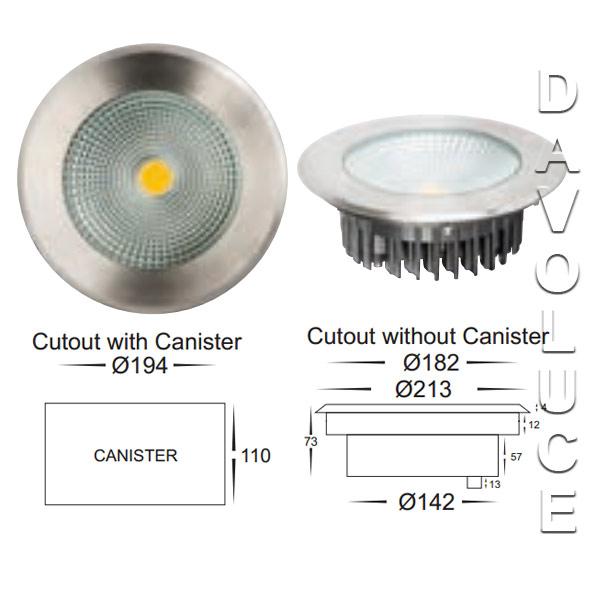 havit hv1833w 20w led round inground uplighter from. Black Bedroom Furniture Sets. Home Design Ideas