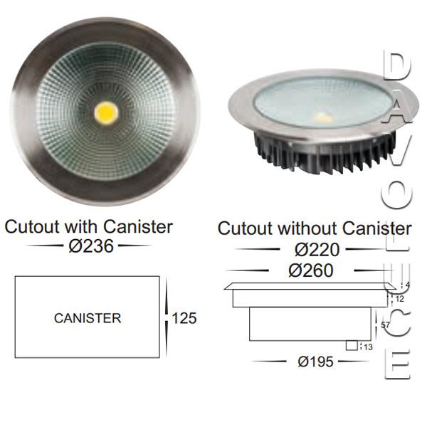 havit hv1835w 30w led round inground uplighter from. Black Bedroom Furniture Sets. Home Design Ideas