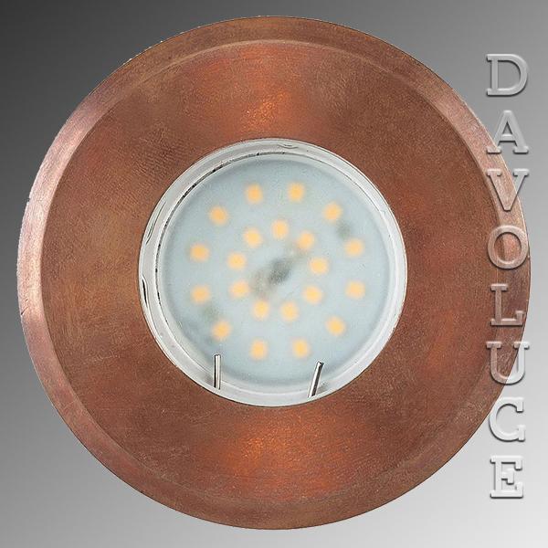 Hv19022 Copper Ollo Steplight Recessed Davoluce Lighting Australia Wide Delivery