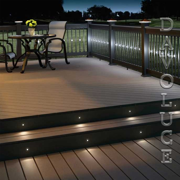 Hv2892 stainless steel 316 marine grade mini ollo recessed copper step lights stainless steel