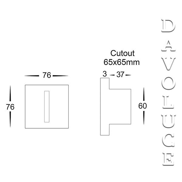 Hv3102 recessed square led step light from havit davoluce lighting hv3102 recessed square led step light from havit davoluce lighting studio australia wide delivery aloadofball Images