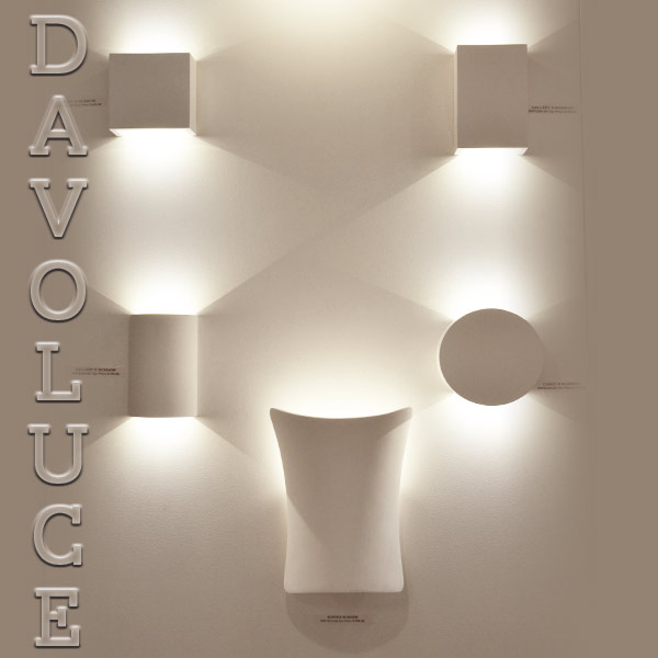All Square Wall Lights : Havit HV8061 Candy Square plaster LED wall light Davoluce Lighting