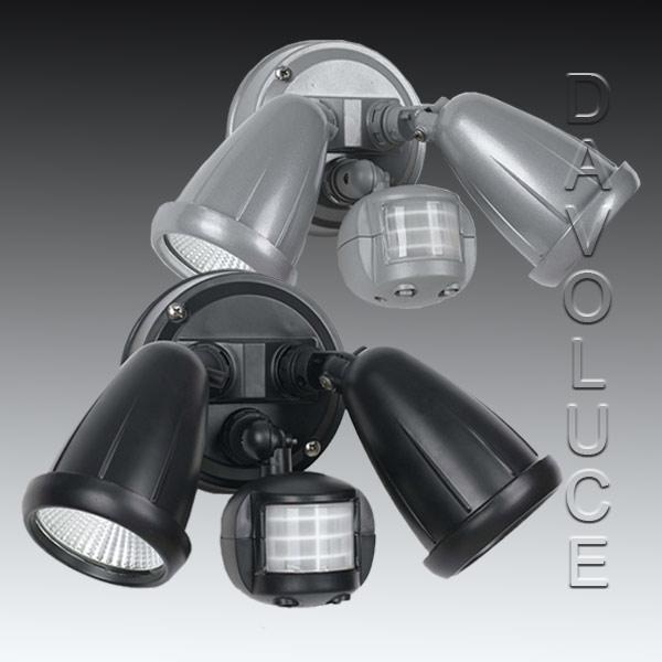 Telbix Illume 2 Light 2 X 10w Led Adjustable Exterior Spot Light With Sensor Australia Wide