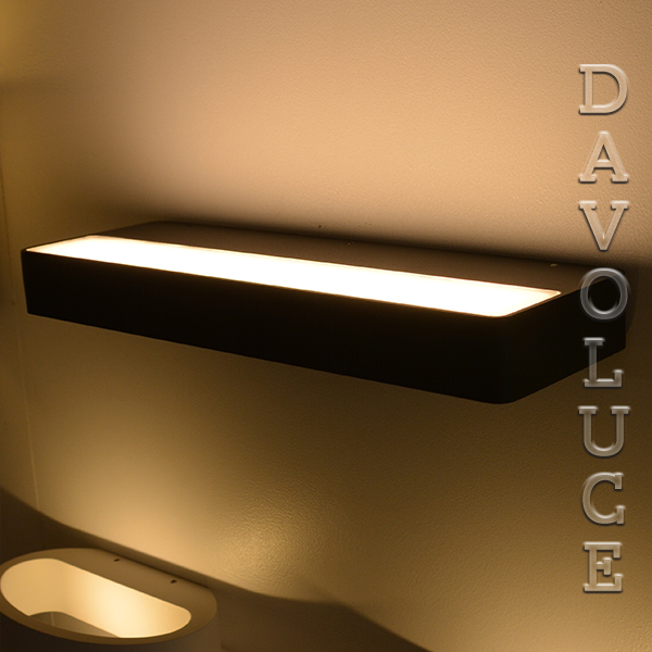 20w Led Wall Light: UP 20W LED Wall Light Black Or White From Lightel