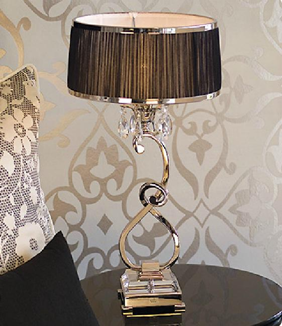 Luxuria table lamp by viore disign designer paul mulhearn table luxuria 1 light table lamp black viore design mozeypictures Image collections