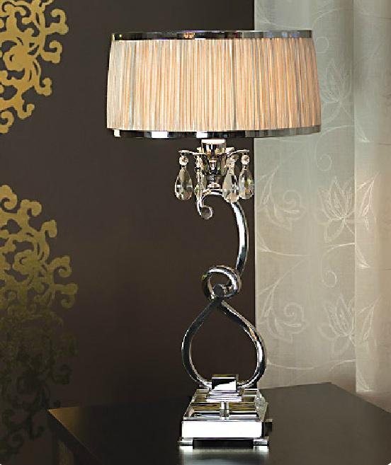 Luxuria 1 light table lamp shimmer grey viore
