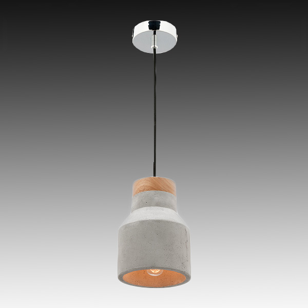 Mercator Mg4031s Moby Small Timber Amp Concrete Pendant