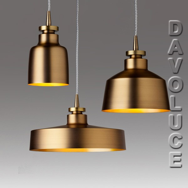 About space mixin 3p antique brass finish 3 light pendant for Brass kitchen light fixtures