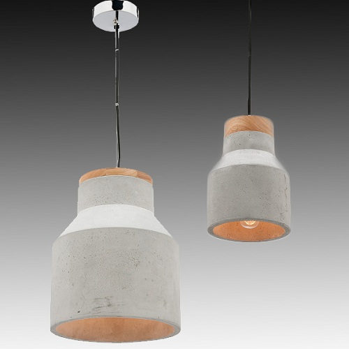 mercator mg4031l moby large timber concrete pendant from davoluce