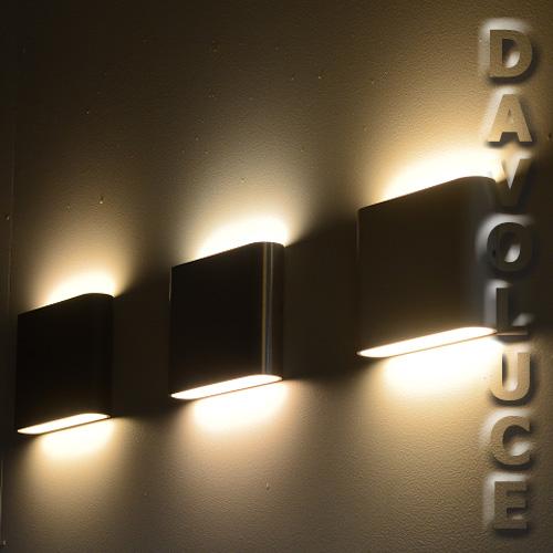 NOVA Modern LED Up And Down Aluminium Exterior Wall Light