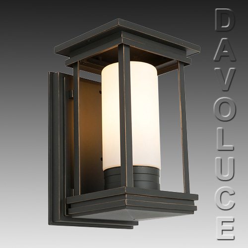 Bronze Metal Wall Lights : Cougar NORFOLK Exterior Bronze Metal Wall Light from Davoluce Lighting