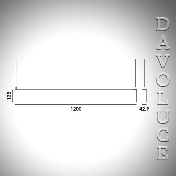 Dvl P4000 H Linear Led Pendant Brightgreen