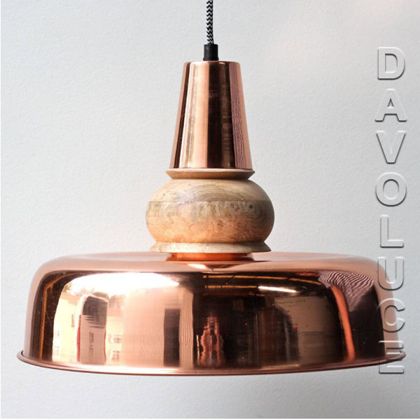 Solid Copper & Timber Pendant Lights Australia