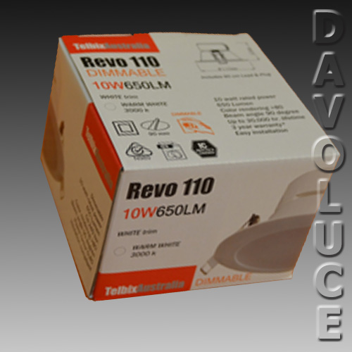 Telbix Revo 10w Dimmable Led Downlight