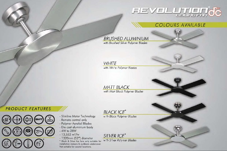 Revolution silver ice ceiling fan from hunter pacific davoluce revolution silver ice ceiling fan from hunter pacific davoluce lighting mozeypictures Gallery