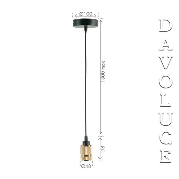 SAXON Suspension Kit Pendant Brilliant Globe Cord
