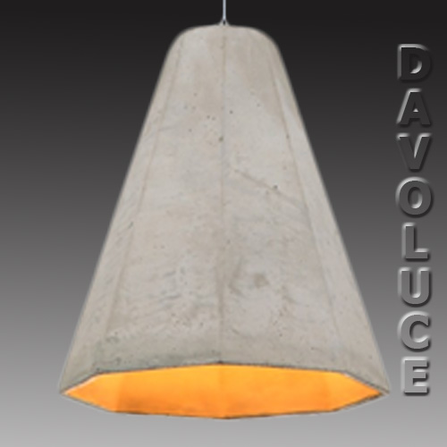 Spektra Concrete Pendant Light From Davoluce Lighting