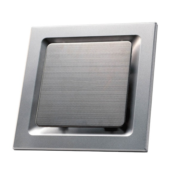 Srvxsq10ss best prices for square bathroom exhaust fans for Stainless steel bathroom fan