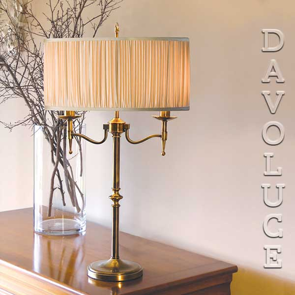 Stanford 2 Light Table Lamp Brass By Viore Design