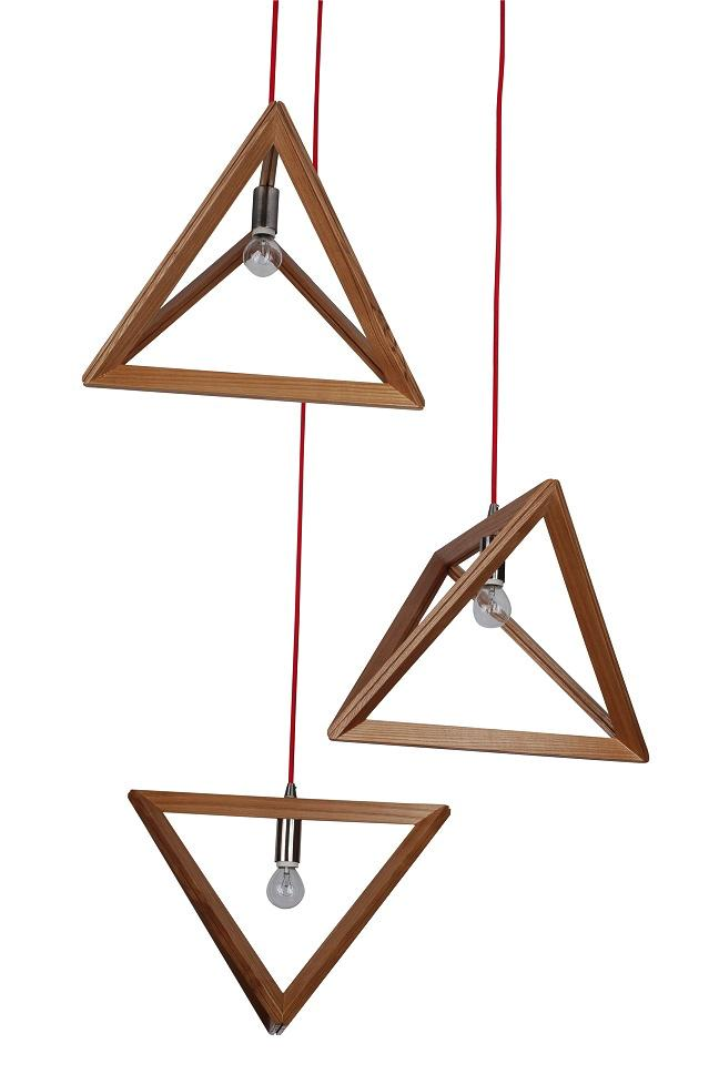 UPTRIANGLE Designer Timber Pendant from Davoluce and UGE Lighting.