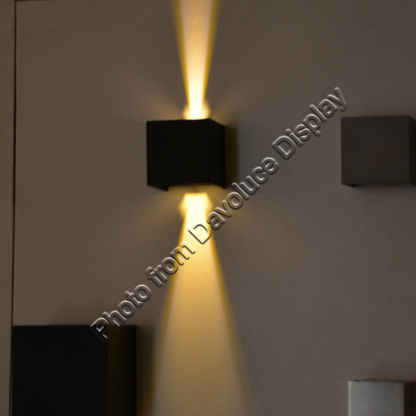 UWL42-BLK-WW - UGE Lighting - REFOCUS Black Square Up & Down 2x3W LED Wall Light