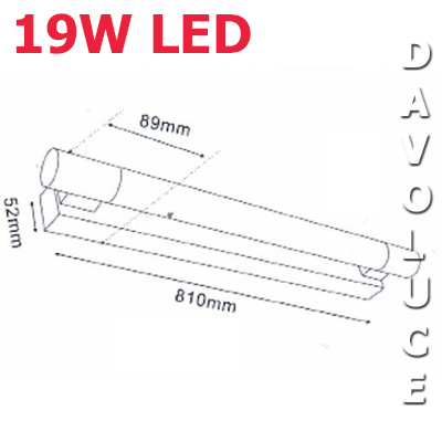 CLA VANITY 2 19W LED Wall Light on wiring diagram for fluorescent strip light