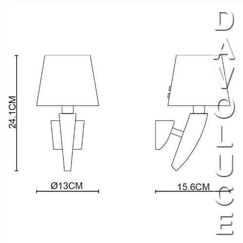 viore design claro ip44 wall lamp