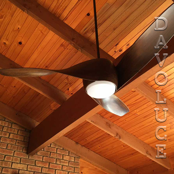 Wing 50 mahogany ceiling fan with light modern ceiling fans wing 50 mahogany ceiling fan with light brilliant lighting buy online davolucelighting mozeypictures Gallery