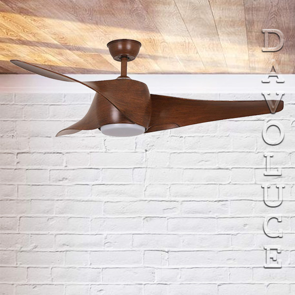 Wing 50 Mahogany Ceiling Fan With Light Modern Ceiling